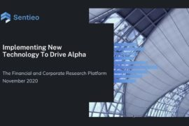 Alpha Tech Upfronts Video – Implementing New Technology To Drive Alpha: Paul Ross, Sentieo